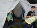 Die Zelte werden ausgeräumt
